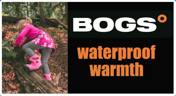 Bogs waterproof and insulated boots for babies and kids