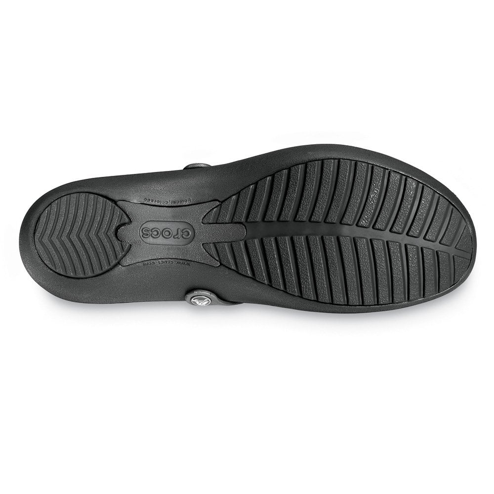 crocs work shoe black non slip flat work