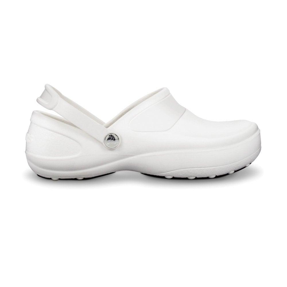 crocs mercy work white white fully molded croslite clog