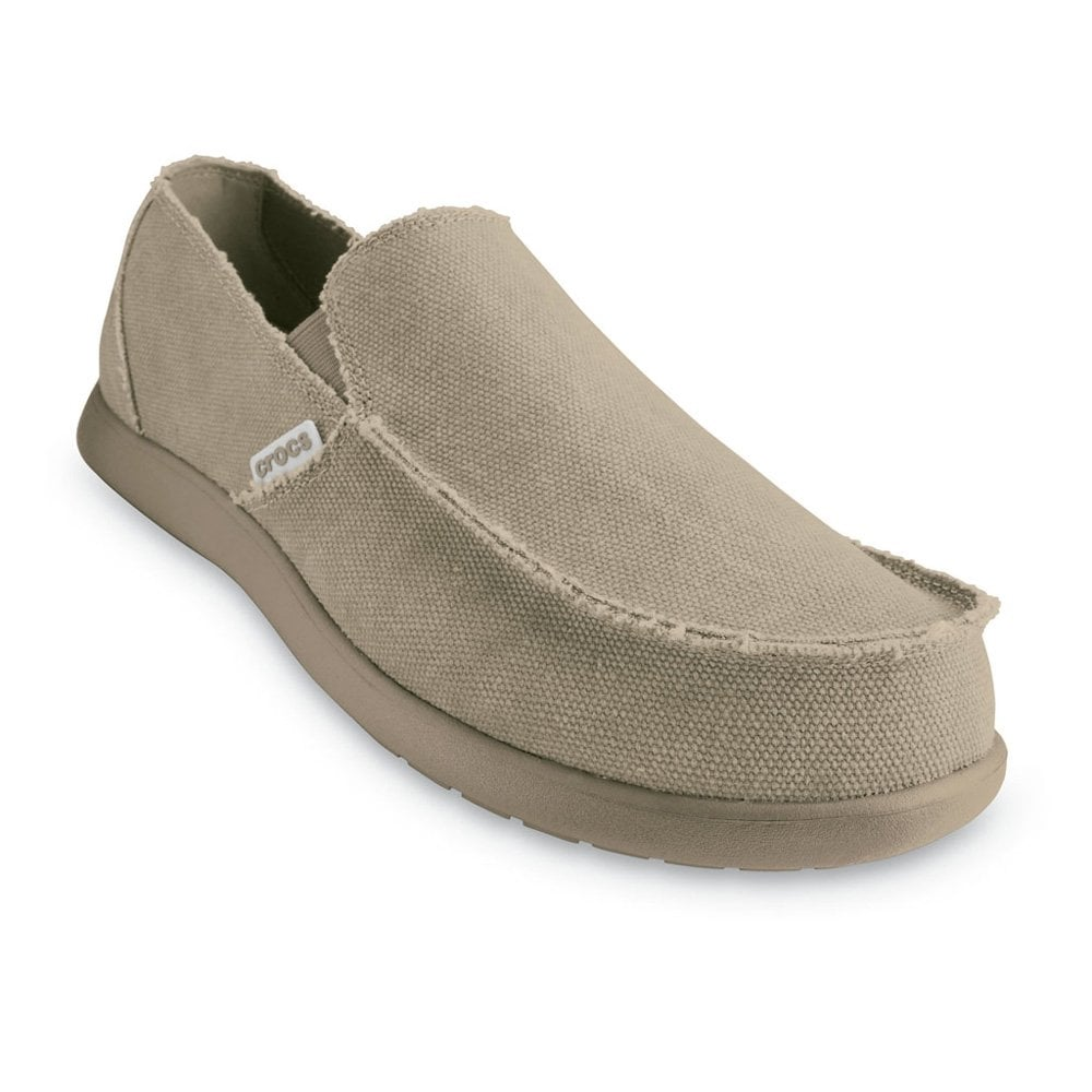 crocs santa khaki canvas slip on shoe for or