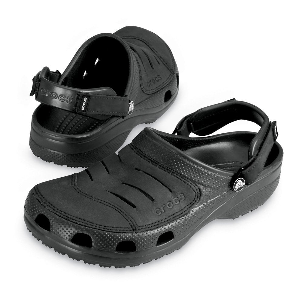 Crocs Yukon Shoe Black, A leather topped croslite clog - Crocs from Jelly Egg UK