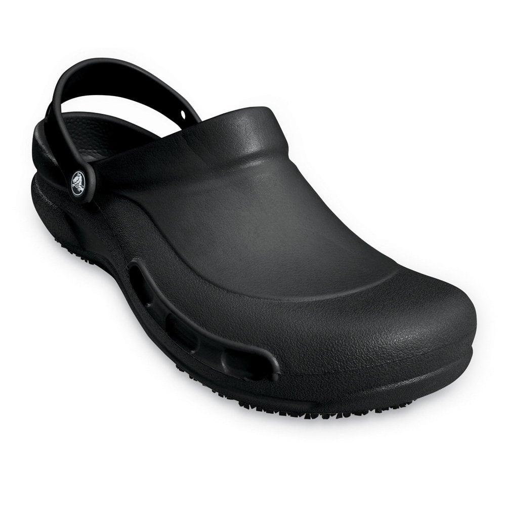 Crocs Bistro Black Enclosed Croslite Work Clog With Crocs ...