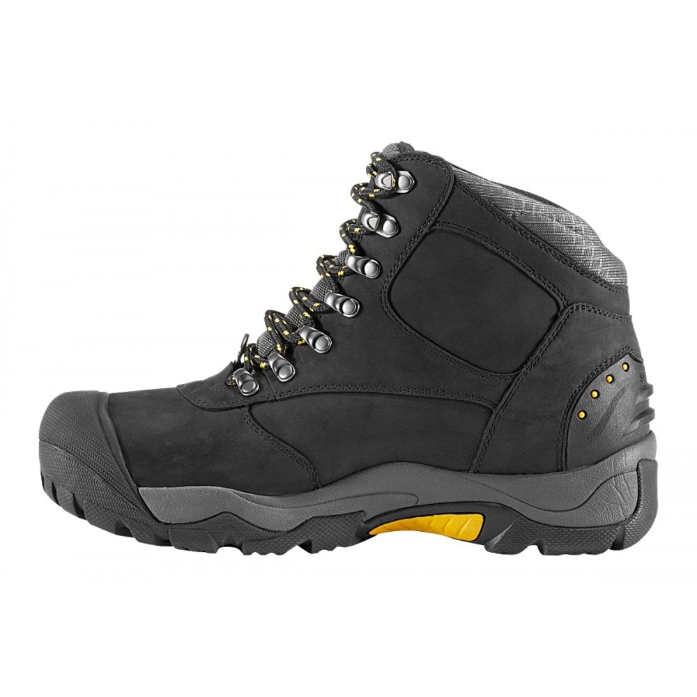 KEEN Mens Revel II Black/Yellow, All-purpose winter boot