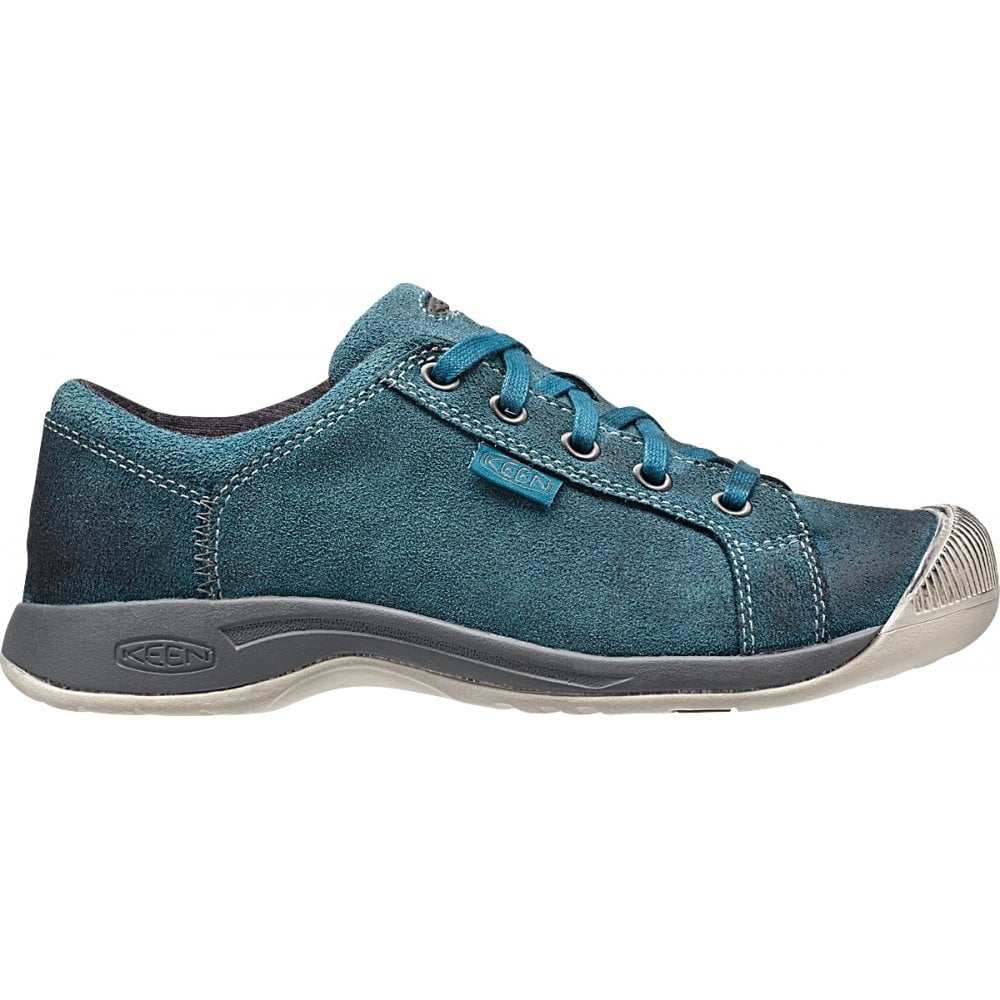 keen womens reisen lace moroccan blue leather shoe with