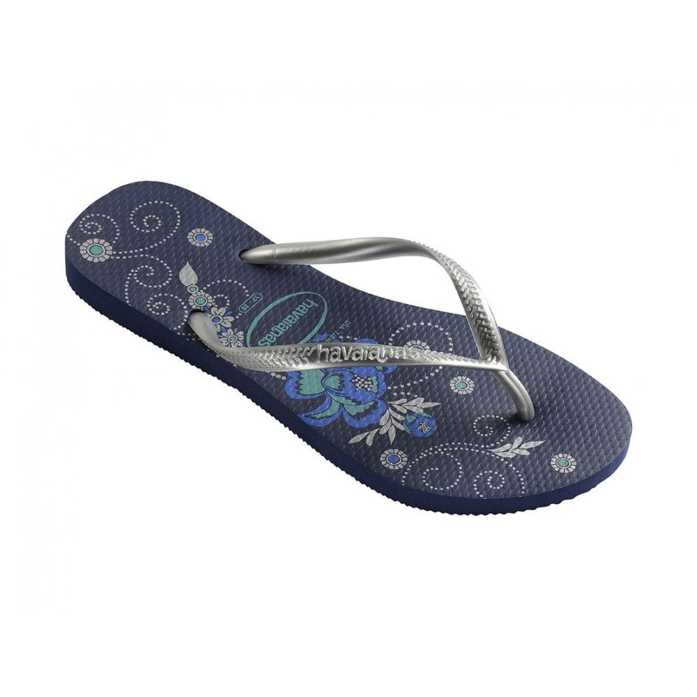 havaianas slim organic navy a colourful take on the original flip flop havaianas from jelly. Black Bedroom Furniture Sets. Home Design Ideas