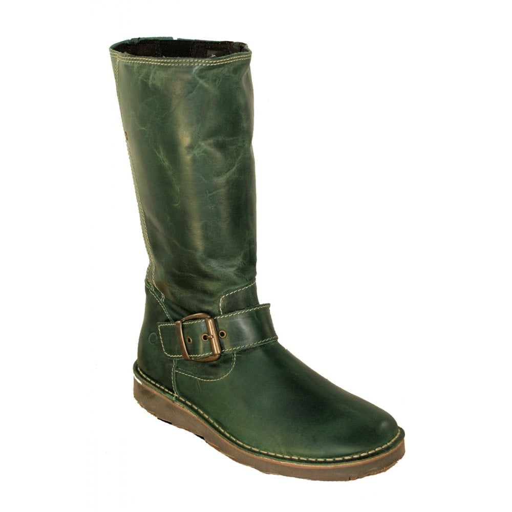 oxygen rhone olive green mid calf boot from jelly egg uk