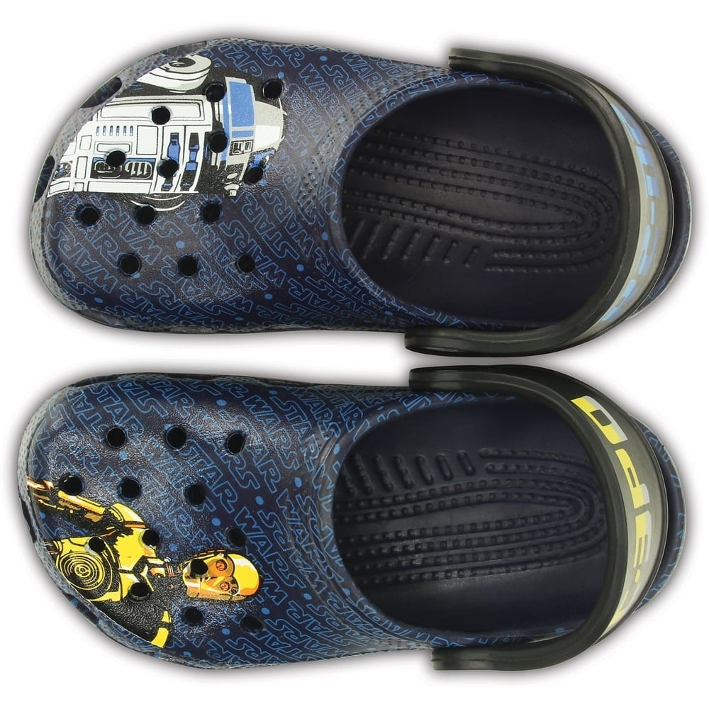 Crocs Kids Classic Star Wars R2d2 C3po Nautical Navy Star