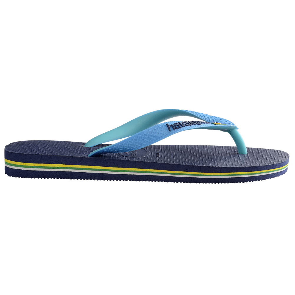 havaianas brasil logo mix navy turquoise the original flip flop havaianas from jelly egg uk. Black Bedroom Furniture Sets. Home Design Ideas