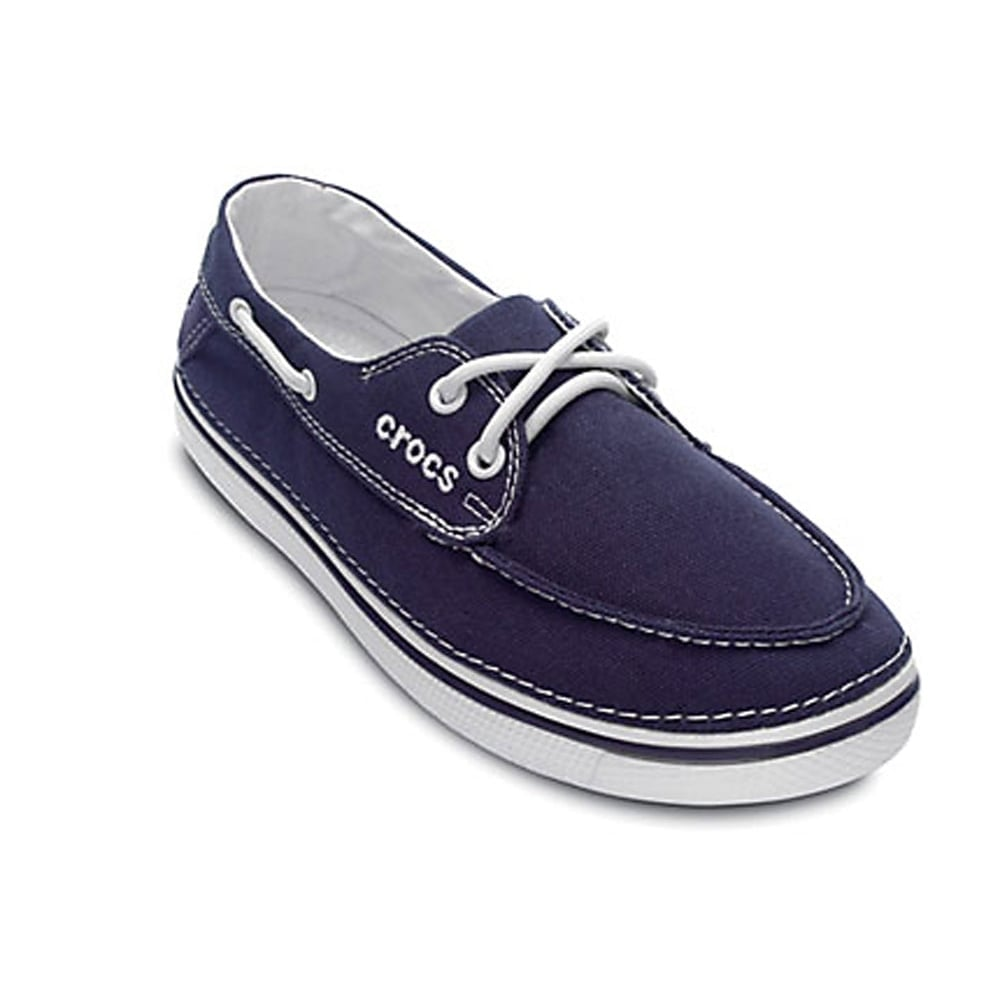 crocs crocs hover boat shoe womens nautical navy canvas