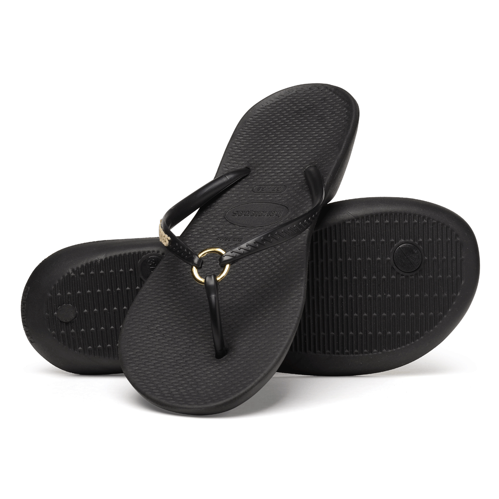 havaianas ring black the original flip flop with a touch a elegance havaianas from jelly egg uk. Black Bedroom Furniture Sets. Home Design Ideas