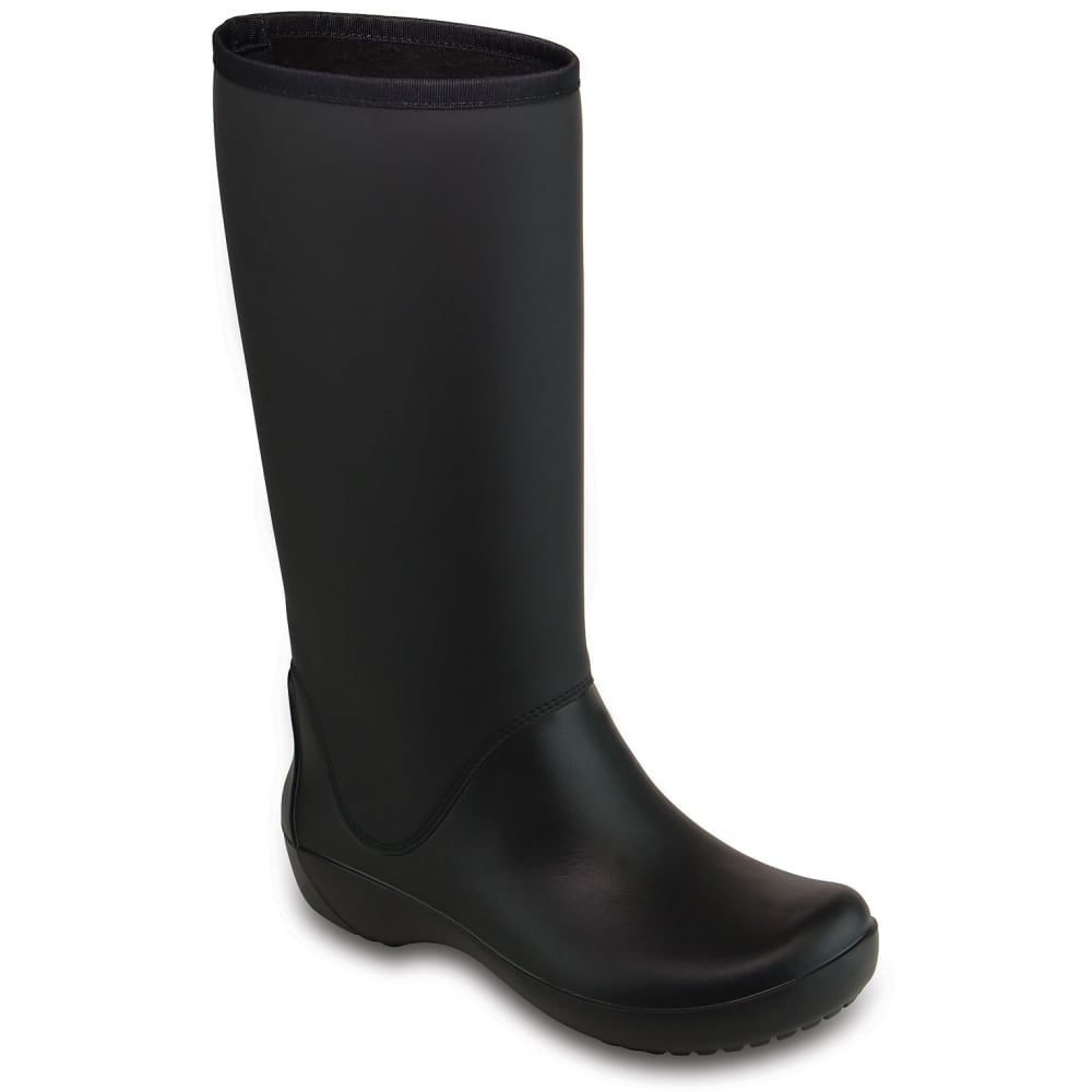 crocs rainfloe boot black womens waterproof