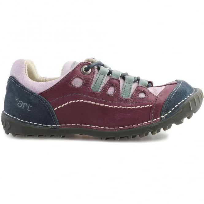 The Art Company 0151 Shotover Shoe Multicolor Lila, Stylish shoe with suede and sinai panels