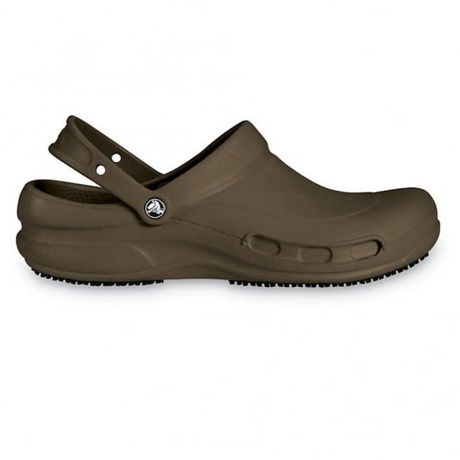 Crocs Bistro Chocolate, Enclosed croslite work clog with Crocs Lock slip resistant soles