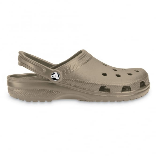 Crocs Classic Shoe Khaki, Original Crocs slip on shoe