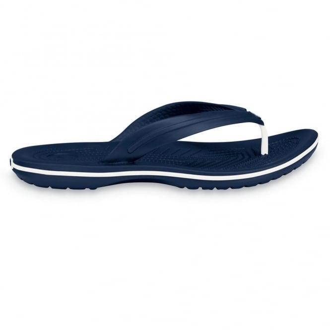 Crocs Crocband Flip Navy, lightweight comfort with circulation nubs for blood flow stimulation