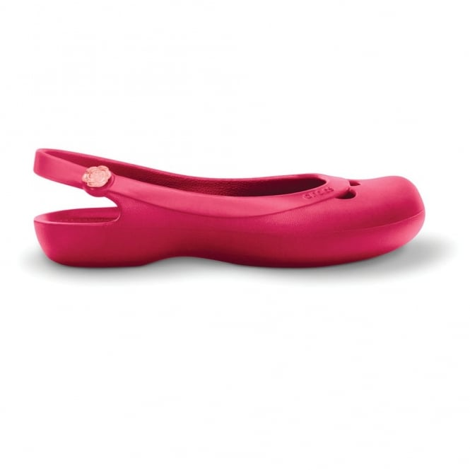 Crocs Jayna flat shoe Raspberry, Simple and sleek pump style shoe