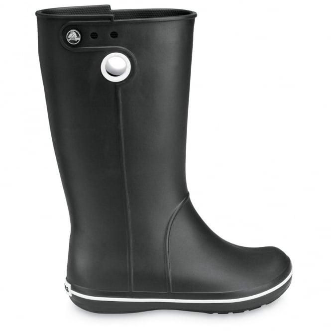 Crocs Jaunt Boot Black, Fully molded Croslite light weight wellington boot