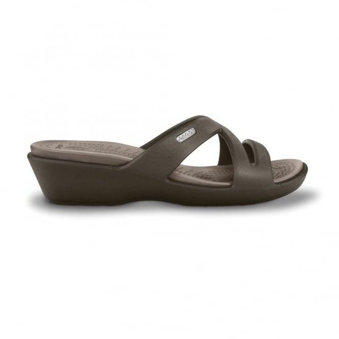 Crocs Patricia II Espresso/Mushroom, Mini wedge sandal made entirely from Croslite