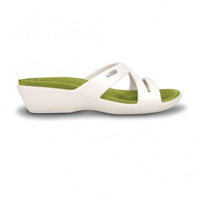 Crocs Patricia II Oyster/Iguana, Mini wedge sandal made entirely from Croslite
