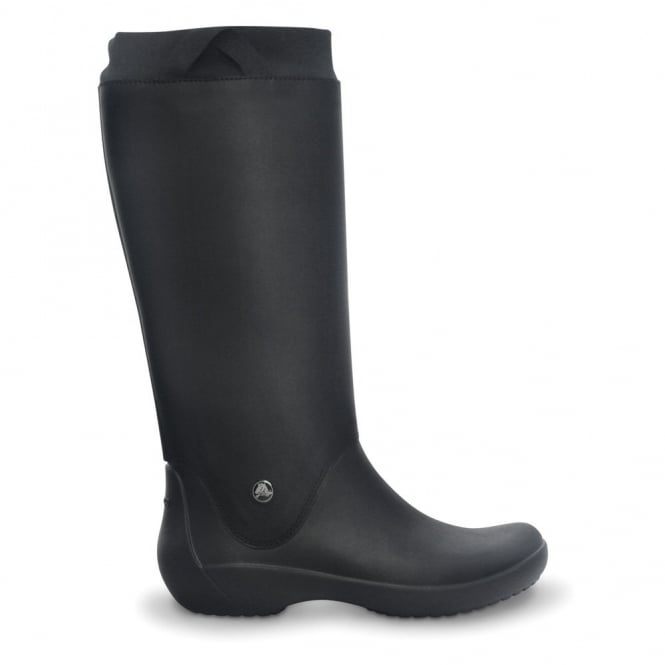 Crocs RainFloe Boot Black, Exceptionally light rain boot with soft lining