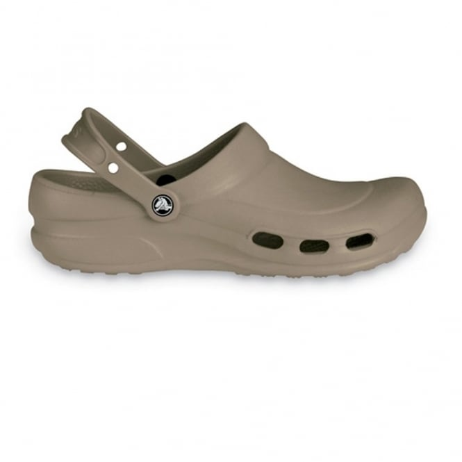 Crocs Specialist Clog Vent Khaki, Light and comfortable work shoe with ventilation ports