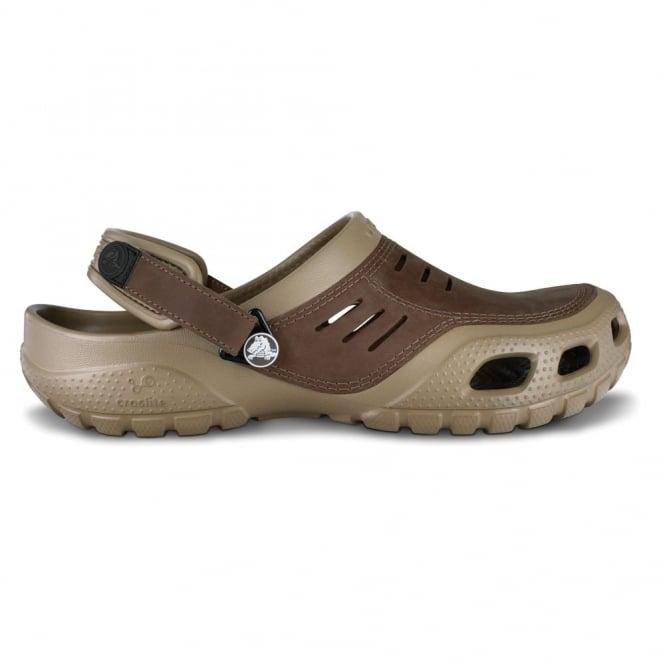 Crocs Yukon Sport Khaki, Men's Leather Topped Slip on Shoe