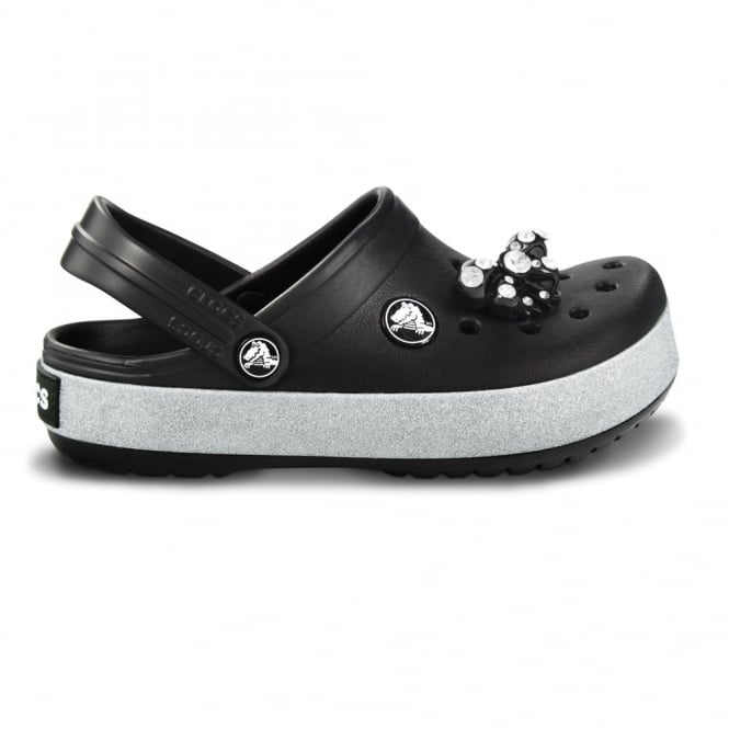 Crocs Kids CrocBling Clog Black , Fun sparkling midsole band and jibbitz on these bling Crocbands!