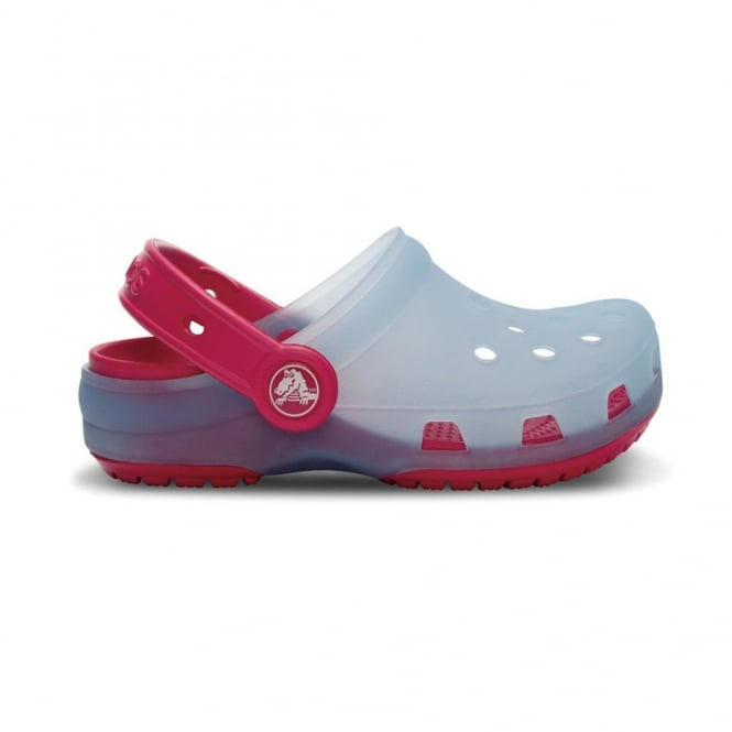 Crocs Kids Chameleons Translucent Clog Light Blue/Raspberry, Innovative colour-changing technology with Crocs comfort