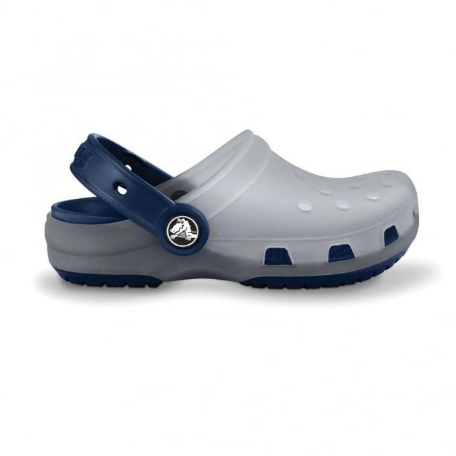 Crocs Kids Chameleons Translucent Clog Light Grey/Navy, Innovative colour-changing technology with Crocs comfort