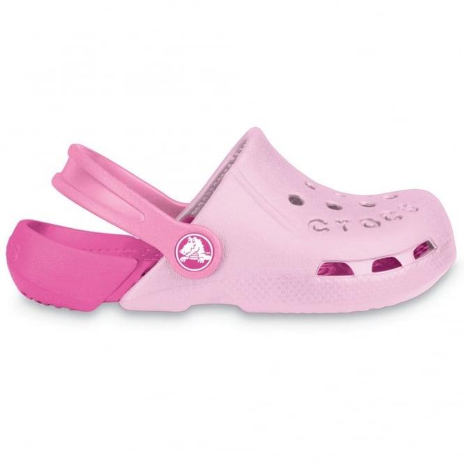 Crocs Kids Electro Shoe Bubblegum/Fuchsia, light weight clog, double colours - double fun!