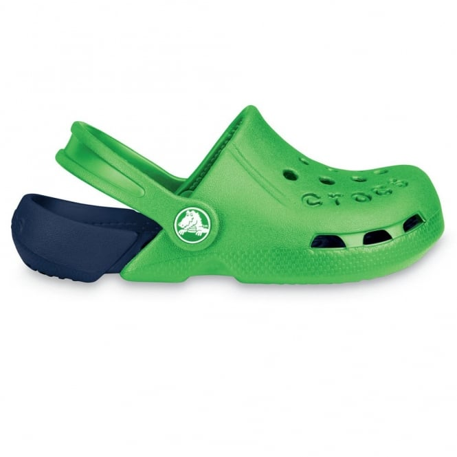 Crocs Kids Electro Shoe Lime/Navy, light weight clog, double colours - double fun!