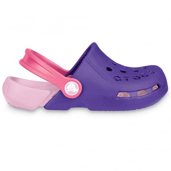 Crocs Kids Electro Shoe Ultraviolet/Bubblegum, light weight clog, double colours - double fun!