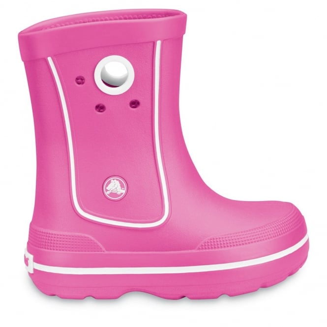 Crocs Kids Jaunt Boot Fuchsia, Lightweight and funky sneakered inspired waterproof boot