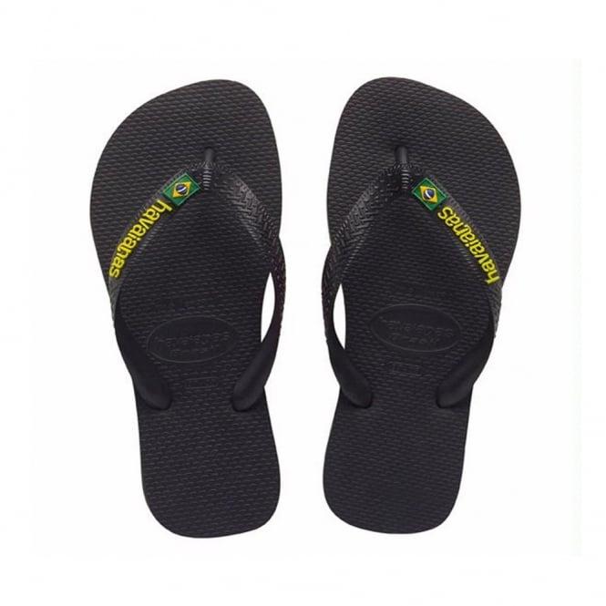 Havaianas Brasil Logo Black, the original flip flop