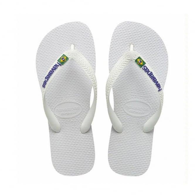 Havaianas Brasil Logo White, the original flip flop