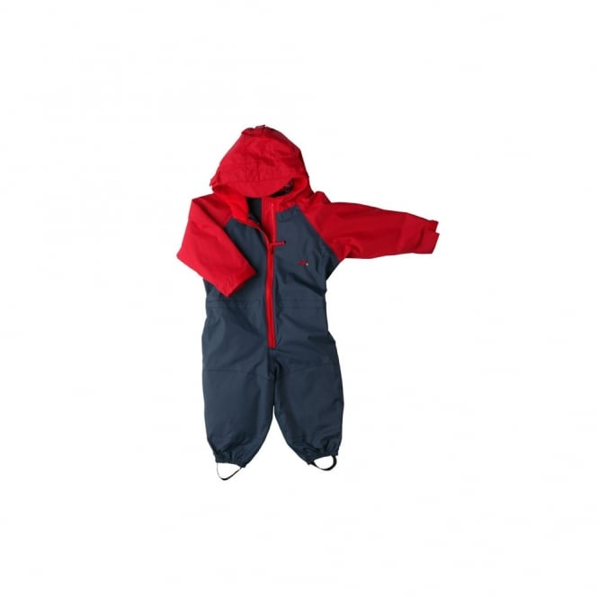 Togz All in One Waterproof Suit Navy/Red