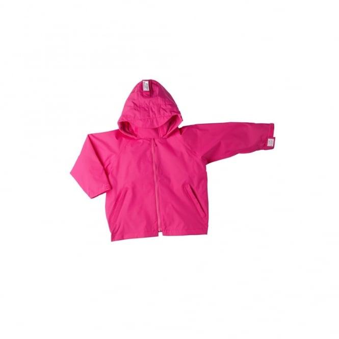 Togz Waterproof Jacket Raspberry, Features Safe & Seen Hi Vis