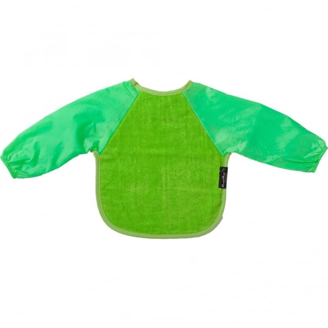 Mum2Mum Sleeved Wonder Bib Large Lime, Full upper body cover