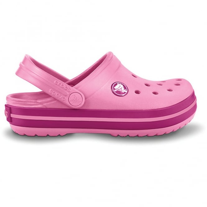 Crocs Kids Crocband Shoe Pink Lemonade/Berry, All the comfort of a Classic but with a Retro look