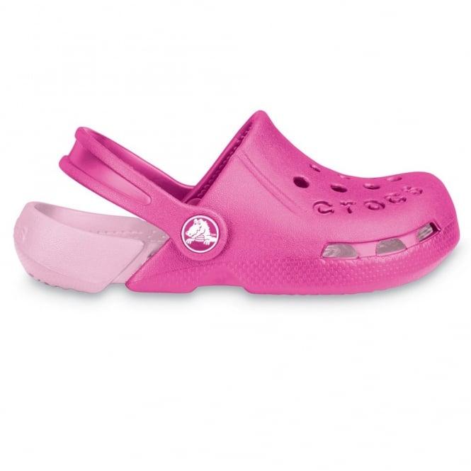 Crocs Kids Electro Shoe Fuchsia/Bubblegum, light weight clog, double colours - double fun!