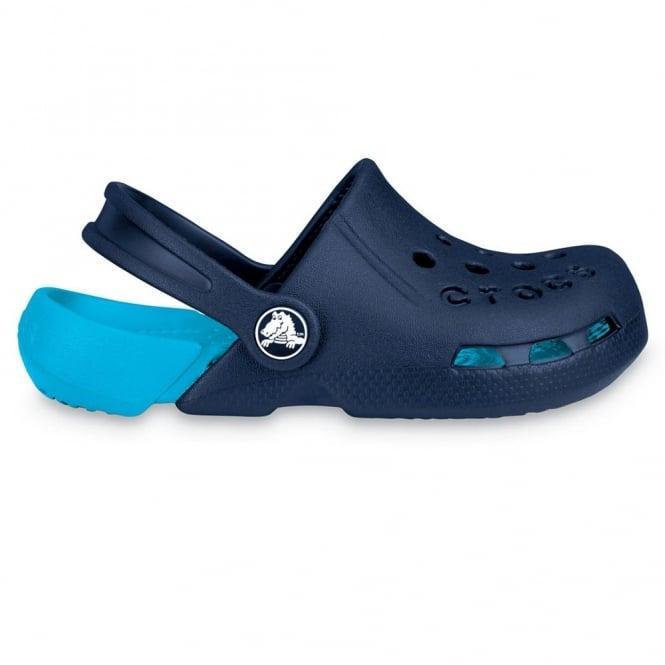 Crocs Kids Electro Shoe Navy/Electric Blue, light weight clog, double colours - double fun!