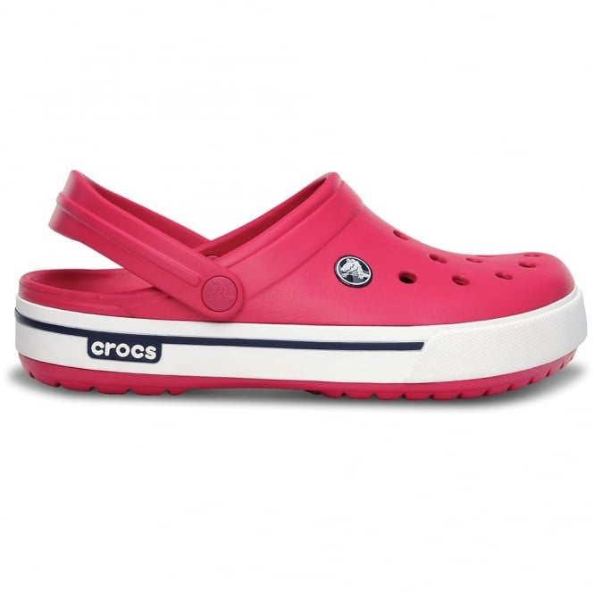 Crocs Crocband II.5 Clog Raspberry/Navy, Retro stlyed slip on croslite shoe