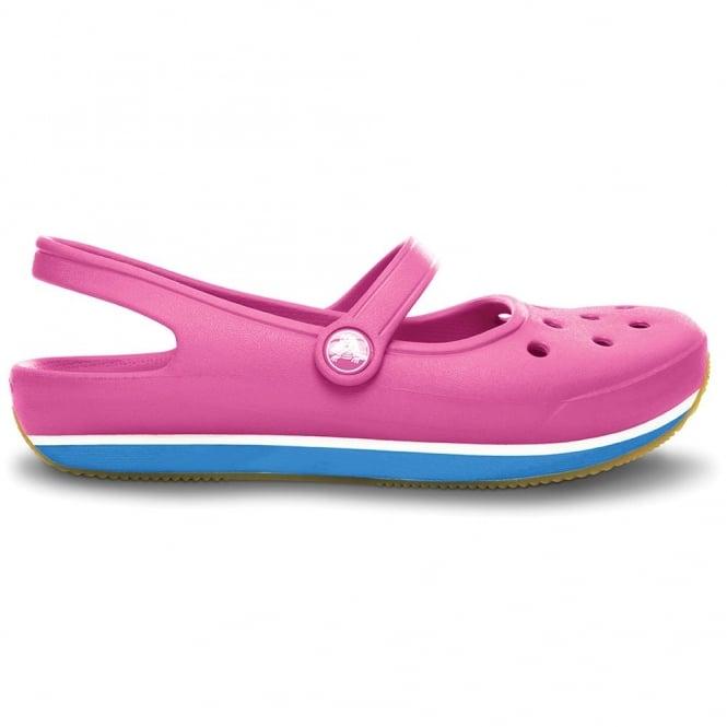 Crocs Retro Mary Jane Fuchsia/Ocean, Sling back 70's inspired shoe with feminine strap