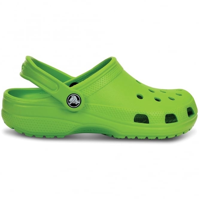 Crocs Classic Shoe Volt Green, Original Crocs slip on shoe