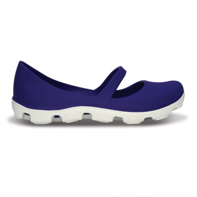 Crocs Ladies Duet Sport Mary Jane Ultraviolet/White, Dual Density Comfort