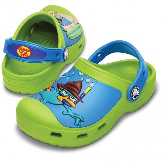 Crocs Creative Crocs Phineas and Ferb Clog Volt Green/Ocean, the comfort of crocs but with friends!
