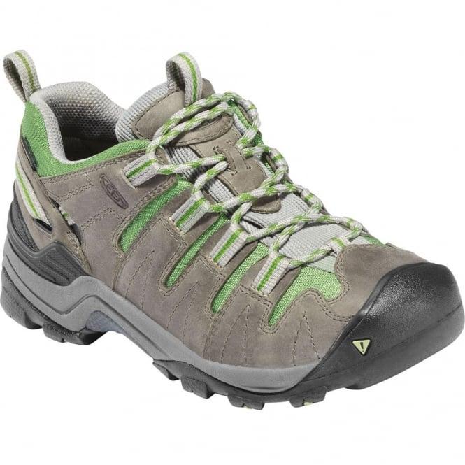 KEEN Womens Gypsum Neutral Gray/Jade Green, lightweight hiker ideal for comfort and stability