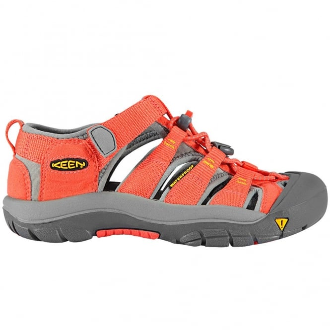 KEEN Kids Newport H2 Hot Coral/Yellow, ideal for in and out of the water