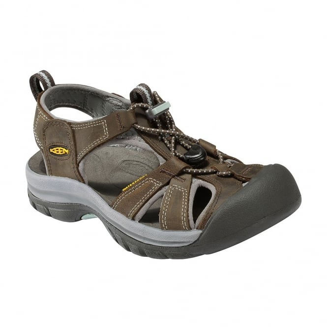 KEEN Womens Venice Black Olive/Surf Spray, The original trail sandal with toe bumper