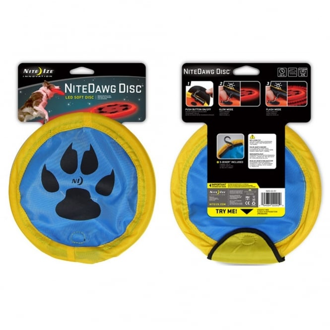 Nite Ize Nite Dawg Disc Blue, Soft to touch and easy to catch